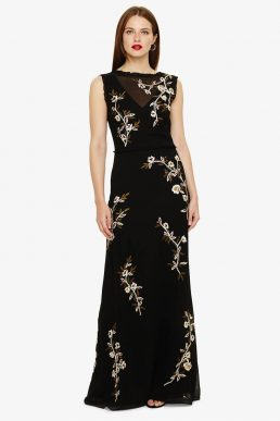 Phase Eight Abigail Floral Maxi Dress Black Multi