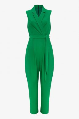 Phase Eight Felicia Wrap Jumpsuit Green