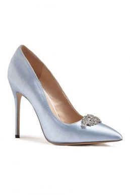 Alandra High Heel Stiletto Court Bridal Shoes Pale Blue