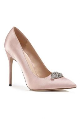 Alandra High Heel Stiletto Court Bridal Shoes Pale Pink