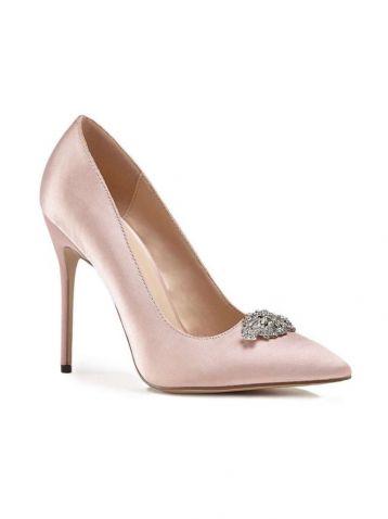 Alandra High Heel Stiletto Court Bridal Shoes Pale Pink