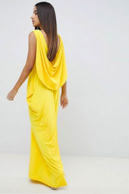 asos yellow bridesmaid maxi dress