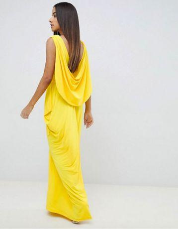 asos yellow bridesmaid maxi dress