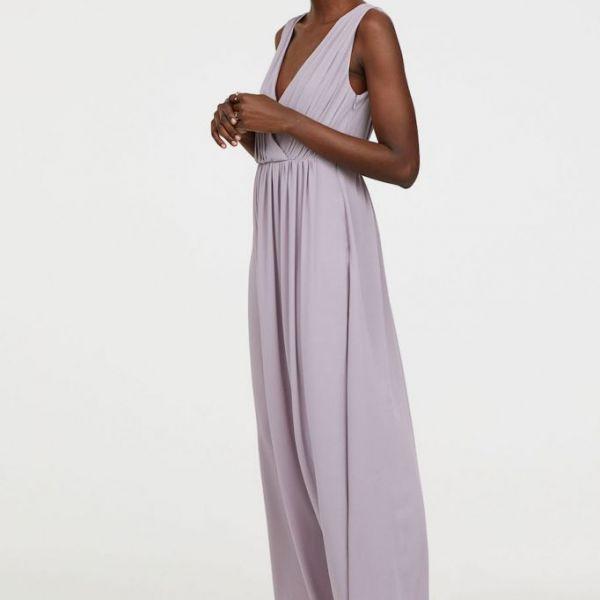 H\u0026M V-Neck Bridesmaid Maxi Dress, Lilac