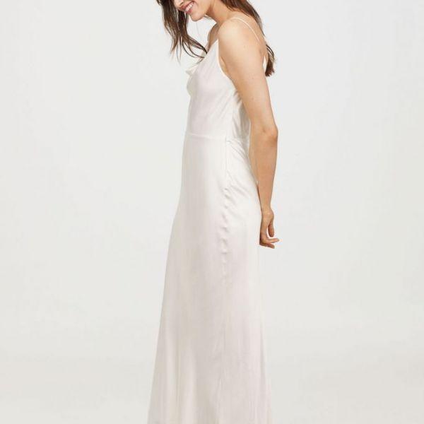 Hm Wedding Dress.H M Sleeveless Long Slip Bridal Maxi Dress White