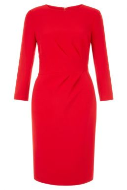 Hobbs Alexa Shift Sleeve Dress Red