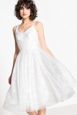 Mademoiselle Embellished Lace Wedding Dress Ivory