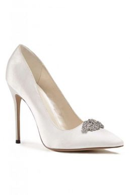 Alandra High Heel Stiletto Court Bridal Shoes Ivory