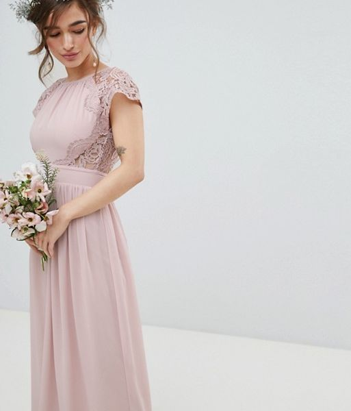 TFNC Maxi Bridesmaid Dress Scalloped Lace 715510e18