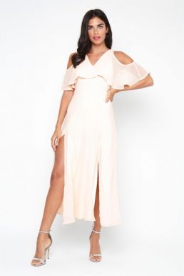 TFNC Neferetiti Midi Dress Nude Blush
