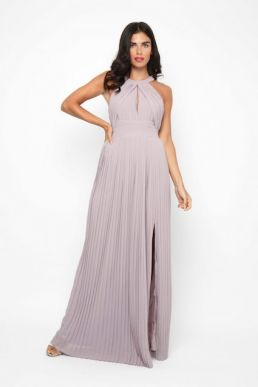 TFNC Prague Bridesmaid Maxi Dress Lavender Grey
