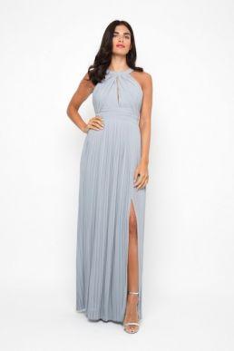 TFNC Prague Bridesmaid Maxi Dress Pale Blue