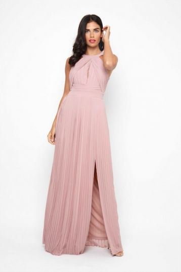 TFNC Prague Bridesmaid Maxi Dress Pink Blush