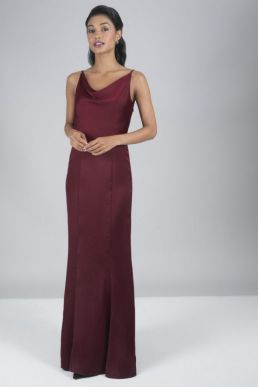 Chi Chi Alexandria Bridesmaid Dress Merlot