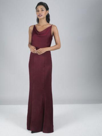 Chi Chi Alexandria Bridesmaid Dress Merlot