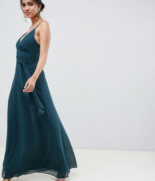 f11a4b4755f ASOS DESIGN cami wrap maxi dress with tie waist