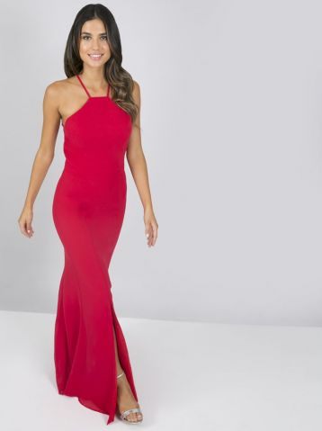 Chi Chi Cherry Maxi Lace Dress Red