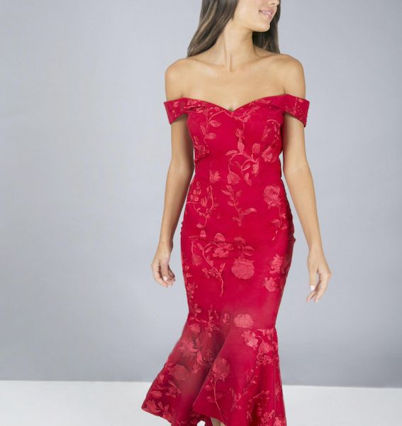 a159f6c16abd Chi Chi Jessi Lace Dress Red