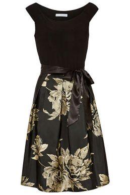 Gina Bacconi Elza Jersey Dress Black Gold