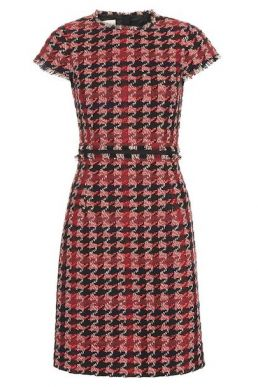 Hobbs Angeline Tweed Dress Red Multi