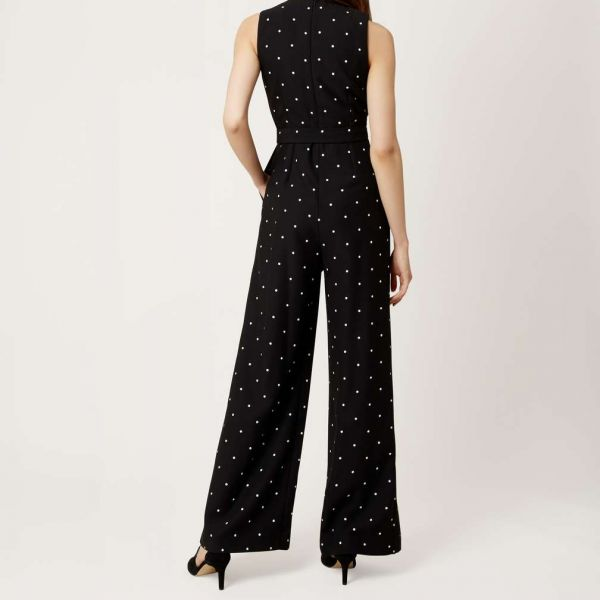 Hobbs Mell Jumpsuit Black White
