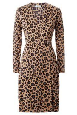 Hobbs Delilah Wrap Dress Brown Multi
