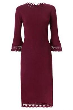 Hobbs Myra Shift Dress Merlot Purple