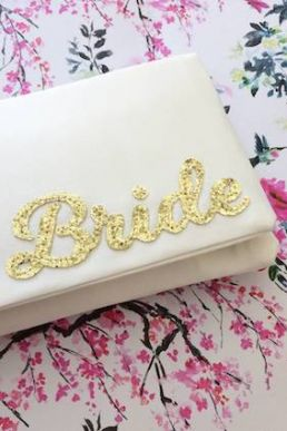 Emma Gordon Bride Wedding Day Bridal Clutch Ivory