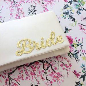 Emma Gordon Bride Wedding Day Bridal Clutch Ivory