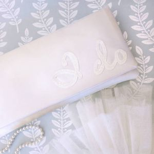 Emma Gordon I Do Wedding Day Bridal Clutch Ivory