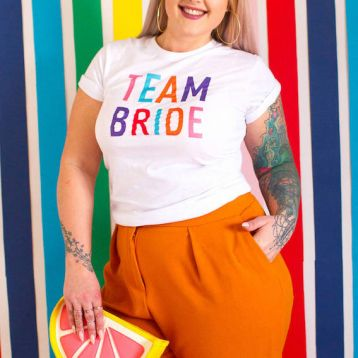 Team Bride Rainbow T Shirt