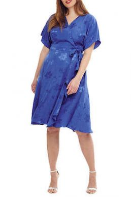 Studio 8 Orla Wrap Dress Cobalt Blue