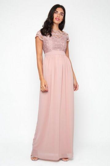 TFNC Abilina Pale Mauve Maxi Dress Pale Pink
