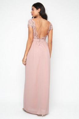 TFNC Abilina Pale Mauve Maxi Dress Pale Pink