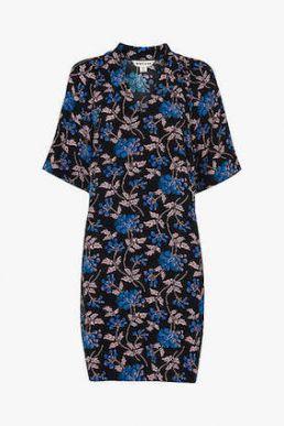 Whistles Elderberry Print Dress Black Blue