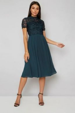 Chi Chi Veronica Lace Bridesmaid Dress Green