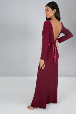 Chi Chi Wilhemina Bridesmaid Dress Merlot