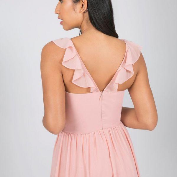 Chi Chi Zahara Bridesmaid Maxi Dress Blush Pink