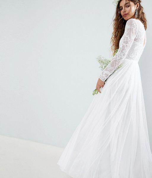 bf36e3902311 ASOS EDITION Embroidered Bodice Wedding Maxi Dress, Ivory ...