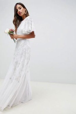 ASOS EDITION floral applique wedding dress ivory