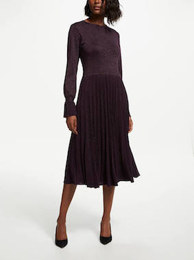 Bruce by Bruce Oldfield Knitted Dress Purple