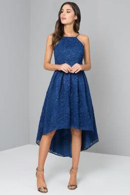 Chi Chi Jiana Lace Dress Blue