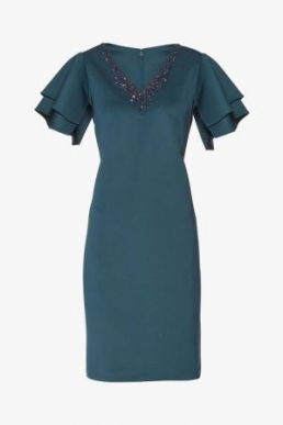 Gina Bacconi Korrelia Scuba Dress Teal