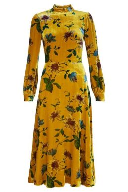 Hobbs Exotics Floral Dress Yellow Multi