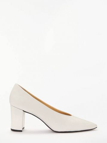 John Lewis & Partners Alannah Court Shoes White Leather