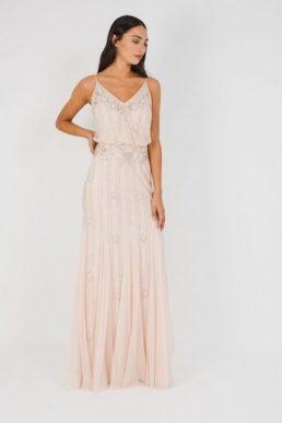 Lace & Beads Keeva Maxi Dress Blush