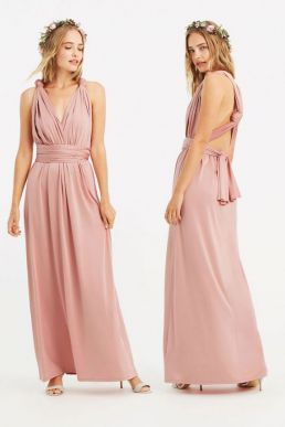 Oasis Annie Multiway Bridesmaid Maxi Blush Pink
