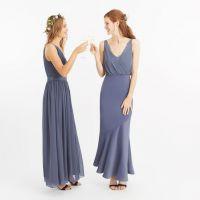 06535f725dc Oasis Slinky Bow Maxi Bridesmaid Dress Mid Grey