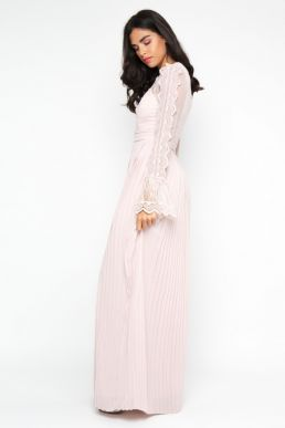 TFNC Isaliya Lace Maxi Bridesmaid Dress Pink Blush