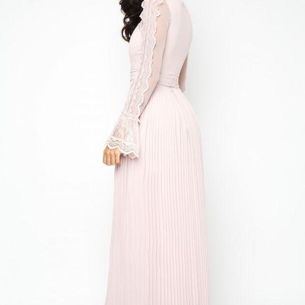 TFNC Isaliya Lace Maxi Bridesmaid Dress Pink Blush